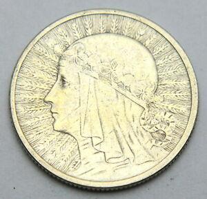 POLAND 2 ZLOTE 1934 OLD SILVER COIN