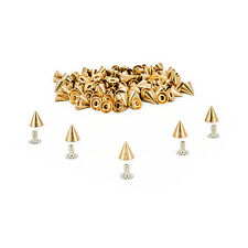50 Pieces of 8x8mm Cone Rivet Studs Spikes For Punk Style Craft Leather DIY