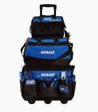 Kobalt 3 Bag Combo 31 Pkts Garage Construction Electrician Handyman Tool Storage