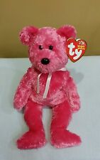 Ty Beanie Baby Sherbet the Hot Pink Teddy Bear 2002, Retired & New