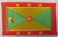 Grenada Aufnäher gestickt,Flagge Fahne,Patch,Aufbügler,6,5cm,neu