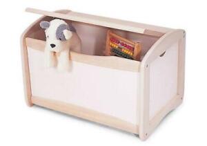 White Wooden Kids Toy Chest Storage
