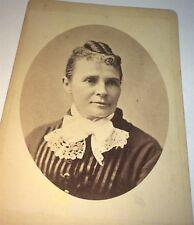 Rare Antique Victorian American Mrs Garfield Advertising Political Cabinet Photo