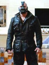 The Dark Knight Rises TDKR Bane Hardy Black Real Leather Jacket Coat -Size Large