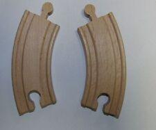 2 Petites Courbes Train en Bois Env. 10 cm avec Brio Compatible 42757