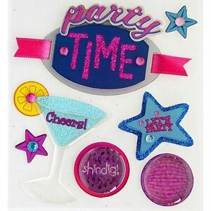 JOLEE'S BOUTIQUE PARTY TIME DIMENSIONAL STICKERS  BNIP