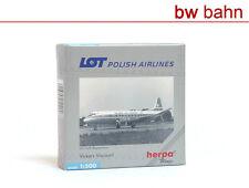 Herpa Wings 1:500 512008 Vickers Viscount LOT Polish Airlines Registration Neu