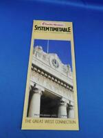 PACIFIC WESTERN AIRLINES SYSTEM TIMETABLE FEBRUARY 1984 CPR STATION CLOCK