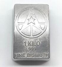 Lingot d'un Kilo de BISMUTH pur 999 / One Kilo Fine BISMUTH 999 Poured Bar