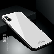 For Apple iPhone X 8 7 Case Hybrid Thin Hard Glass Back Shockproof Mirror Cover