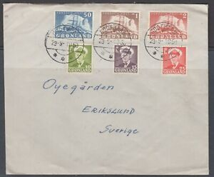 Greenland 1950. Cover to Sweden.