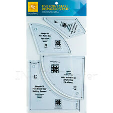 EZ Quilting Five Point Star/ Drunkard's Path Acrylic Template PATCH WORK SEWING