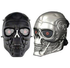 Airsoft Full Face Skull Msk Military Paintball Halloween Face Msk 2 Colours