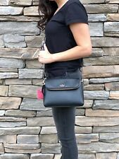 Kate Spade Carter Street Berrin Pebbled Leather Crossbody Hand Bag Purse Black
