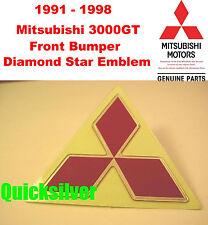 1991 1998 Mitsubishi 3000GT Front Bumper Diamond Star Emblem OEM NEW