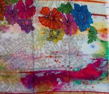 Tolani 5125 Flowery Spring Orange Modal/Linen Scarf