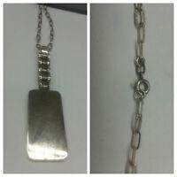 collana argento 60 cm con ciondolo