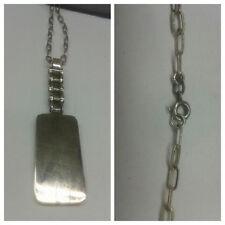 chaîne en argent 60 cm avec pendentif