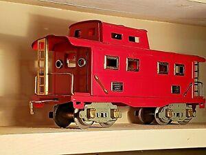 American flyer vintage metal model 3201 red caboose cart locomotive #3