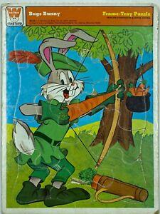 VTG Bugs Bunny Robin Hood Frame Tray Jigsaw Puzzle Whitman 1974