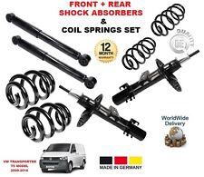 FOR VW TRANSPORTER T5 MARK 5 2009-> FRONT + REAR SHOCK ABSORBERS + COIL SPRINGS
