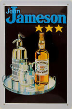 John Jameson Silver Tray embossed steel sign 300mm x 200mm (hi) REDUCED