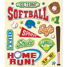 K&COMPANY STICKER MEDLEY SPORTS SOFTBALL DIMENSIONAL 3D SCRAPBOOK STICKERS