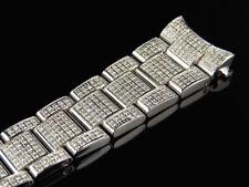 Mens Rolex Datejust 36 Mm Pave Set Diamond Band With 5.5 Ct Custom