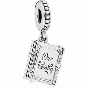 NEW Genuine Pandora Charm 798105 Family Book Love Thank You Sterling Silver ALE