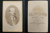Siebe, Breslau, monsieur en médaillon Vintage albumen carte de visite, CDV