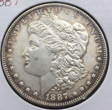 1887 Morgan Dollar  Rim Toning
