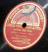 Ravel Sonatine Alfred Cortot DB 1533 & DB 1534 2 x 78 RPM NM-/NM