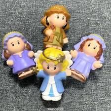 4pcs Fisher Price Little People SHEPHERD Joseph Angel Mary NATIVITY figure toys