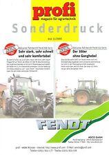Fendt Fahrbericht 936 / 312 Vario, orig. Profi- Sonderdruck 2005
