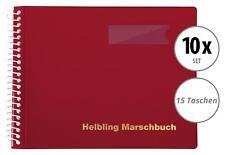 10x Helbling BMR15 Marschbuch rot 15 Taschen Marsch Noten Mappe Musik Spirale