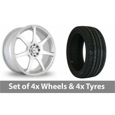 """4 x 16"""" BK Racing 238 Silver Alloy Wheel Rims and Tyres -  205/50/16"""