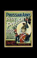 Framed Antique Advertisement Print – Prussian Army Paste Metal Polish (Picture)