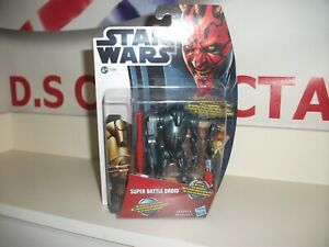 star wars movie heroes SUPER BATTLE DROID MH02 NEW MINT ON CARD postage discount