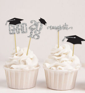 Graduation Cap Theme Partys,Congrats Grad! Cupcake Toppers-Pack Of 20-DSCCT-115A