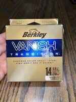 New Berkley Vanish Transition 14lb 250yd Clear Gold Fishing Line Supplies Rod