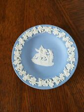 Wedgwood Blue Jasperware Small Trinket Dish Angels, Pegasus