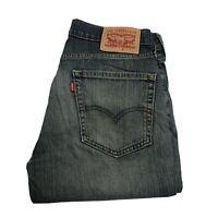 LEVIS 514 Mens W30 L30 Mid Blue Straight Slim Jeans (M310)
