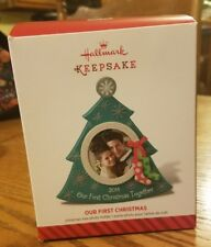 NIB-Hallmark Ornament-2014 Our First Christmas Together Photo Holder Frame Tree