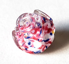 Antique Charmstring Glass Button Swirlback Paperweight SUPER CUTE mid 1800s