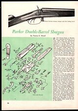1961 PARKER Double Barrel Shotgun Exploded View Parts List 2-pg Assembly Article