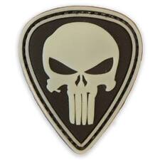 3D PVC Punisher Military Tactical Airsoft Biker Morale Patch Glow in the Dark