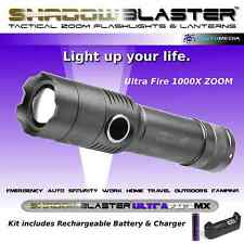 ShadowBLASTER- UltraFire Tactical Zoom Flashlight- Battery w/ Charger