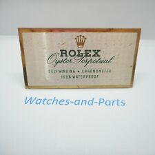 Rolex Oyster Perpetual Dealer Sign Plate Display GENUINE RARE VINTAGE 460