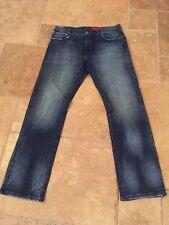 Ellus Originals Brazil Men's Dark Distressed Slim Cut Jeans Sz 36