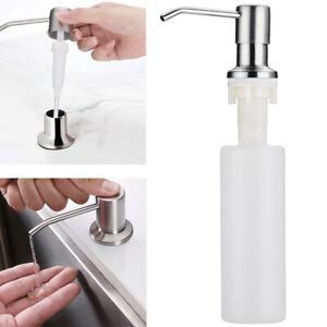 300ML Sink Soap Dispenser Kitchen Stainless Steel Hand Liquid Pump Bottle USA